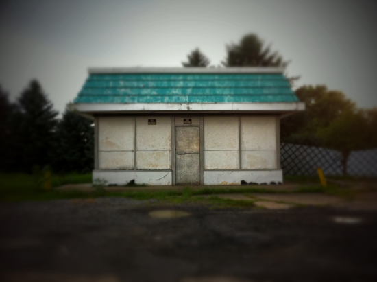 my home town - unlucky's gas station